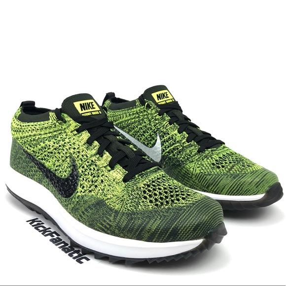 8d2ac49bdb781 Nike Womens Flyknit Racer G Golf Shoes Volt Sz 10